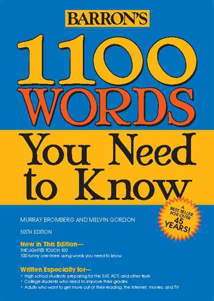 1100 Words You Need to Know By Bromberg, Murray/ Gordon, Melvin